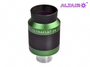 Altair 24mm ULTRAFLAT Eyepiece - parallel barrel stainless steel